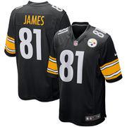 Jesse James Pittsburgh Steelers Nike Game Jersey - Black